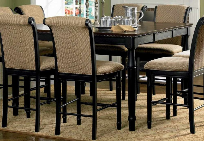 Furniture Outlet Counter Height Two Tone Dining Table Set Upholstered Chair Antique Chair