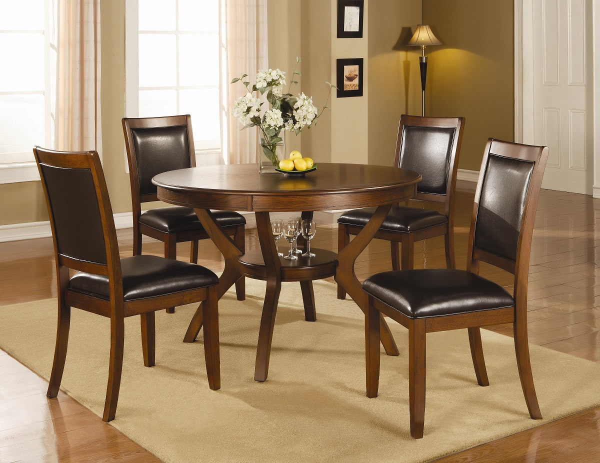 Furniture Outlet Round Table Dining Table Set Chair Chairs Coaster 102171 102172