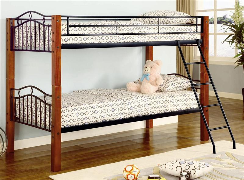 Furniture Outlet Coaster Wood Metal Bunk Bed 2248 Youth Furniture Kids Bed