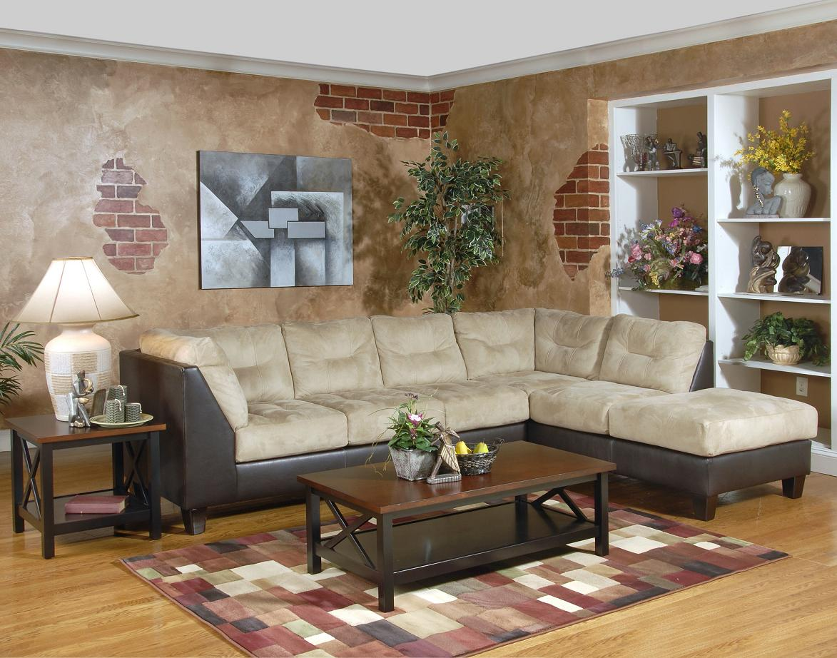 Serta Upholstery Two Tone Sectional
