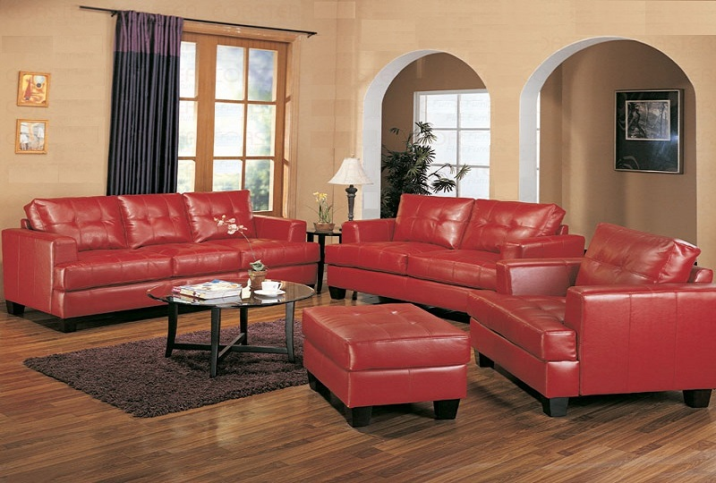 Furniture Red Sofa Loveseat Set, Red Leather Sofa And Loveseat Set