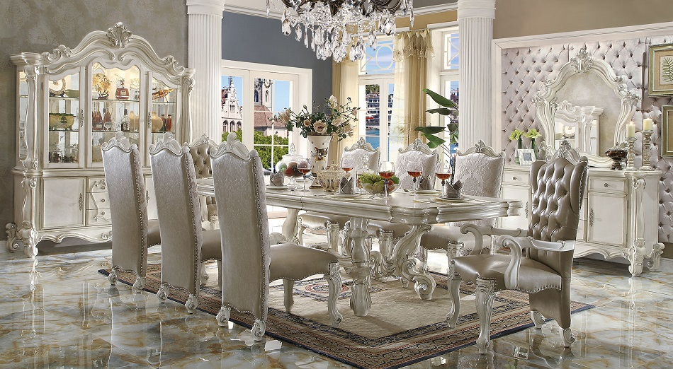 versailles collection 61130 acme dining table set