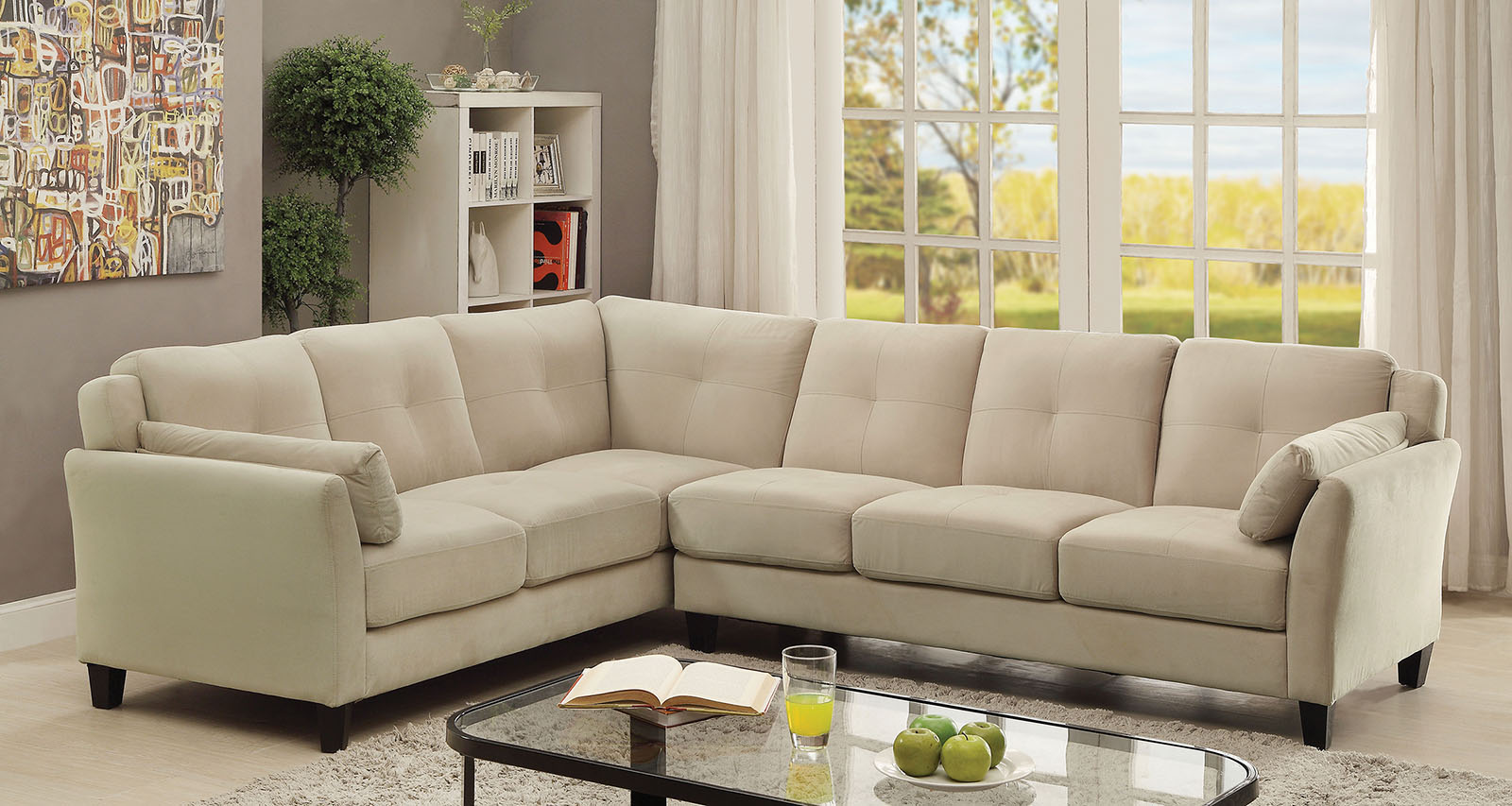 6368bg Beige Contemporary Sectional Sofa Furniture Of