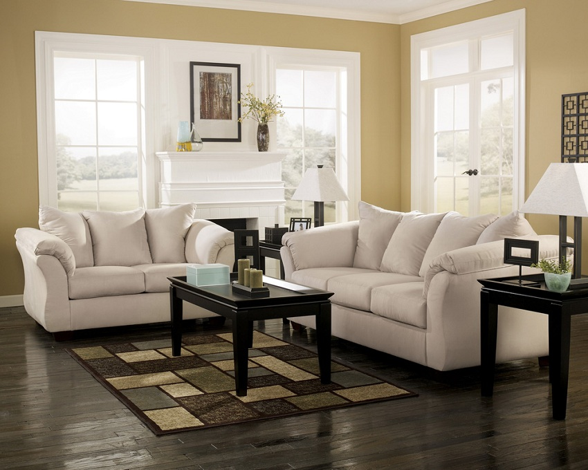 Ashley Furniture Living Spaces Darcy Stone Sofa Amp Loveseat