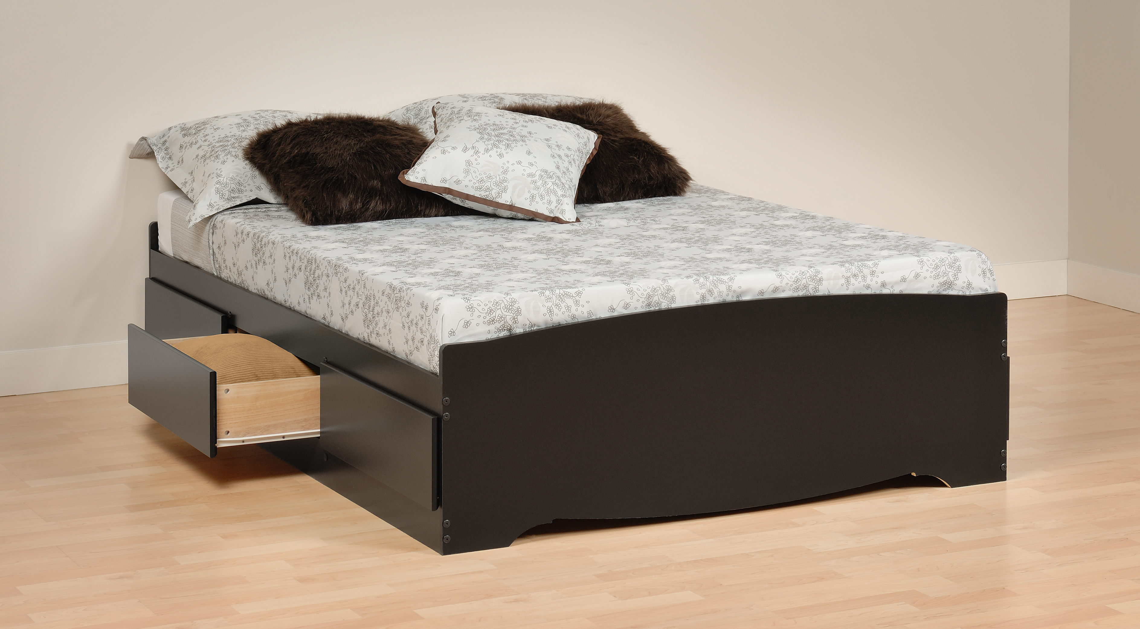 Prepac Black Full Platform Storage Bed 6 Drawers Bbd5600 Furniture Outlet San Diego
