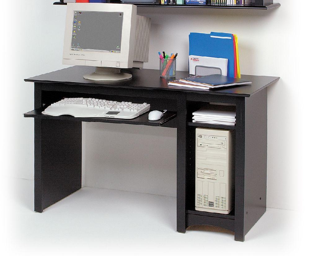 prepac black computer desk bdd2948 furniture outlet san diego orange county los angeles. Black Bedroom Furniture Sets. Home Design Ideas