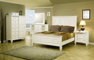 White Bed Panel Bed Queen Bedroom King Coaster Wildon