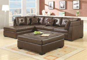 Darie Collection 500686 Brown Sectional Sofa