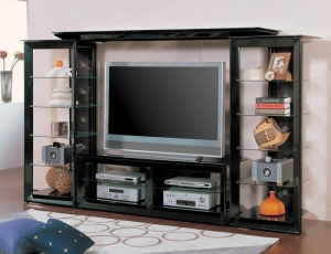 Emmett Collection 700163 Metal Glass TV Wall Unit