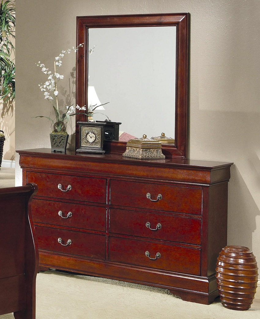 Cherry finish storage bed orange county storage bed anaheim stoage bedroom set irvine for Bedroom furniture orange county