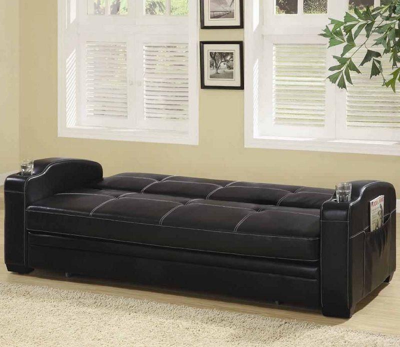 furniture black futon click clack klik klak sofa bed 300132