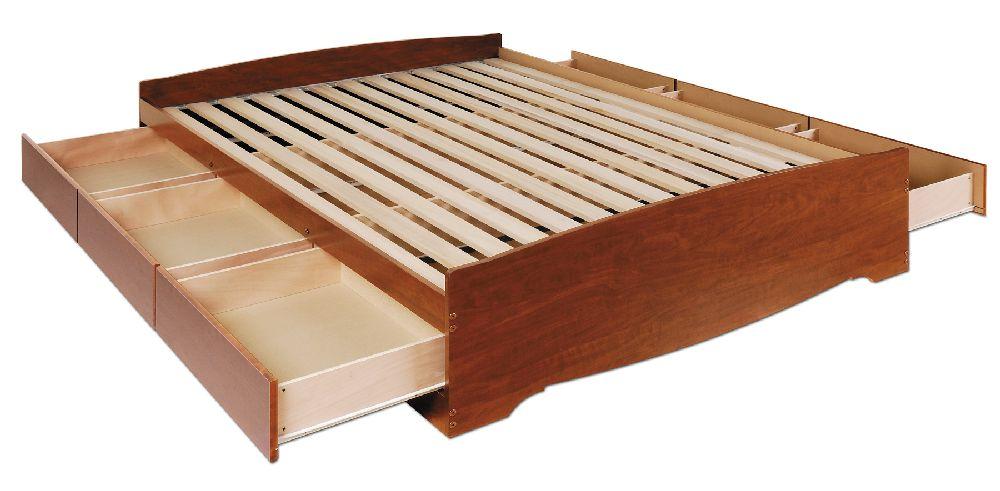 Cherry Queen Platform Storage Bed (6-drawers) CBQ6200