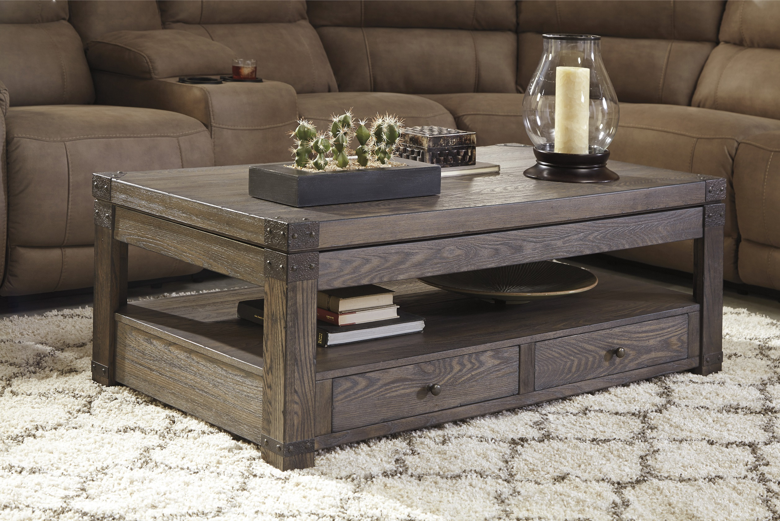 Burladen T846 Lift Top Coffee Table By Ashley Furniture Trunk Style W