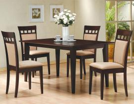 Coral Collection 100773 Padded Back Chair Dining Table Set