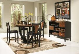 Metropolis Collection 102098 Two Tone Counter Height Dining Table Set