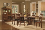 Peru Collection 102151 Dark Oak Finish Formal Dining Table Set