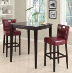 Melissa Collection 102579 Bar Height Dining Table Set