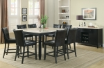 Anisa Collection 102778 Faux Marble Counter Height Dining Table Set