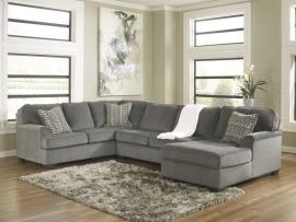 Loric Collection 12700 Smoke Sectional Sofa