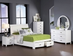 Lyric Collection 1737W White Modern Bedroom Set