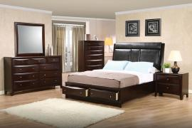 Phoenix Collection 200419 Padded Headboard with Storage Bedroom Set