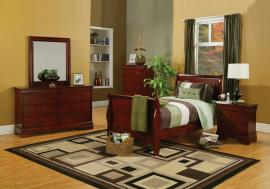 Louis Philippe Collection 200431Y Cherry Sleigh Youth Bedroom Set