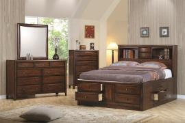 Hillary Collection 200609 Captians Storage Bedroom Set