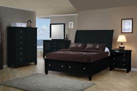 Sandy Beach Collection 201329 Black Storage Bedroom Set