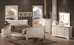 Oakland Collection 201691 White Sleigh Bedroom Set