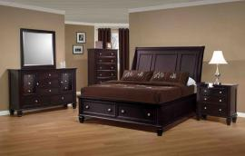 Sandy Beach Collection 201990 Cappuccino Storage Bedroom Set