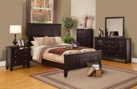 Sandy Beach Collection 201991 Cappuccino Panel Bedroom Set