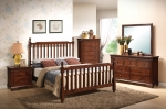 Montgomery Collection 202421 Brown Cherry Bedroom Set