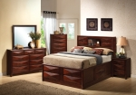 Bree Collection 202711 Brown Cherry Storage Bedroom Set