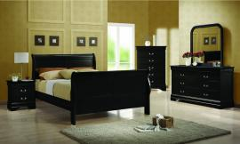 6 Pc. Queen Black Sleigh Bedroom Package