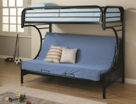 Eclipse Black Collection 2253K Black Twin/Futon Bunk Bed