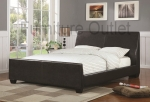 Rockledge Collection 300251 Upholstery Brown Queen Bed