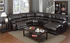 Fluker Collection 3501 Brown Reclining Sectional