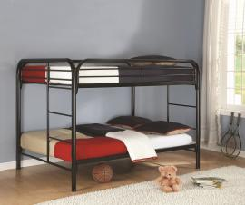 Sebastian Collection 460056K Black Full/Full Bunk Bed