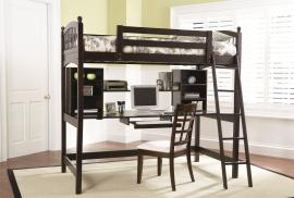 Workstation Bedroom Collection 460063 Workstation Desk Loft Bed Cappuccino