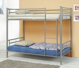 Henry Collection 460072 Silver Metal Twin Twin Bunk Bed