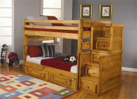 Callisto Collection 460096 Full/Full Drawer Step Bunk Bed