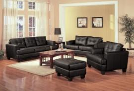 Samuel Collection 501681 Black Sofa & Loveseat Set