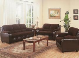 Monika Collection 502811 Two-Tone Sofa & Love Seat Set