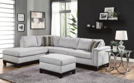 Mason Collection 503615 Blue Grey Sectional Sofa with FREE Ottoman
