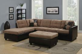 Harlow Collection 505675R Two Tone Sectional Sofa