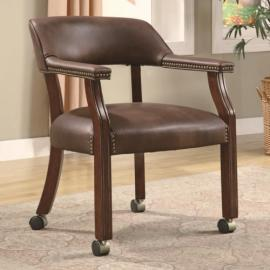 Brown Vinyl Collection 517BRN Office Chair