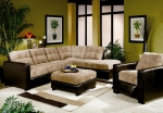 Hermosa Beach Collection 550121 Two Tone Sectional Sofa