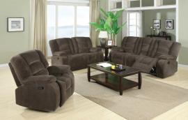 Charlie Collection 600991 Padded Velvet Reclining Sofa & Loveseat Set