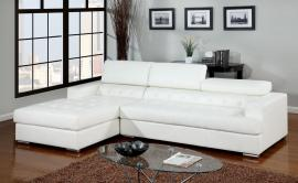Floria White 6122WH Modern Sectional