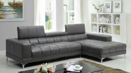 Bourdet Collection 6669GY Grey Modern Sectional Sofa